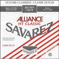 JUEGO DE CUERDAS GUITARRA CLÁSICA SAVAREZ 540-J ALLIANCE ROJA