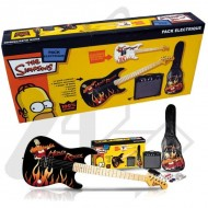 PACK GUITARRA ELÉCTRICA THE SIMPSON SIM-133 HOMER