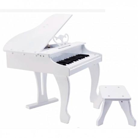 PIANO DE COLA ELÉCTRICO INFANTIL BLANCO